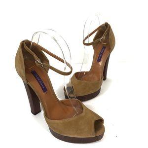 Ralph Lauren Purple Label Ankle Strap Platform